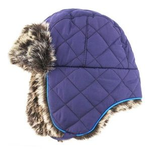 New Baby Quilted Trapper Hat